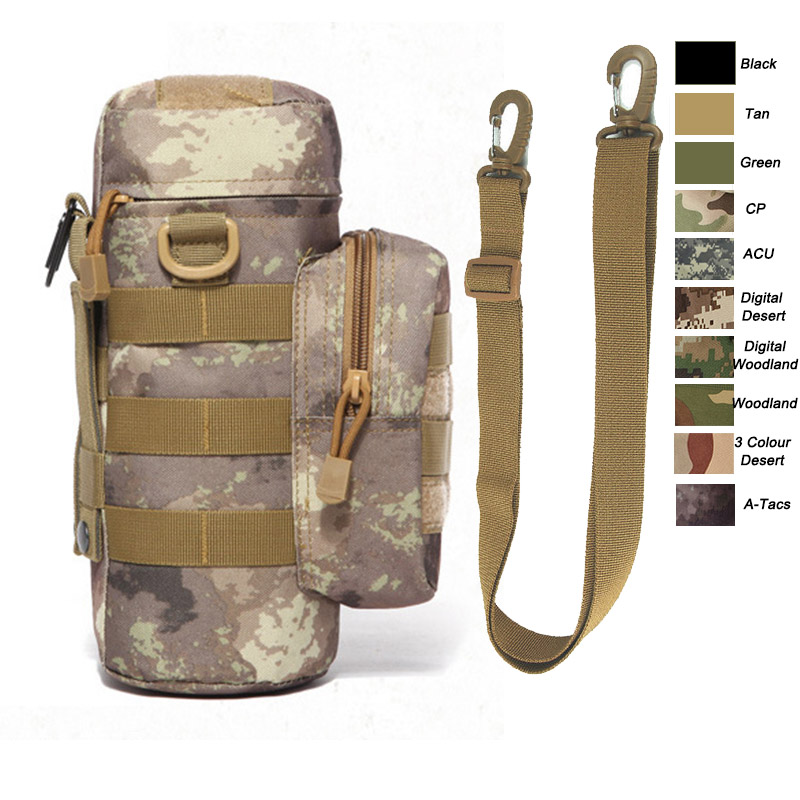 Water Bottle Pouch Military Attachment Bottle Sling  with Pouch ACU Camouflage